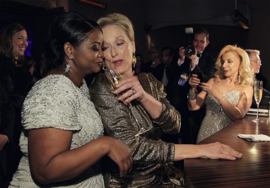 Octavia Spencer and Meryl Streep share champagne