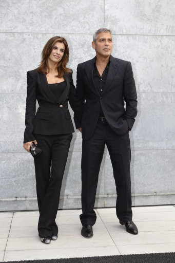 American actor George Clooney and his girlfriend Elisabetta Canalis