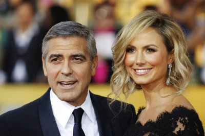 Actor George Clooney and his girlfriend Stacy Keibler