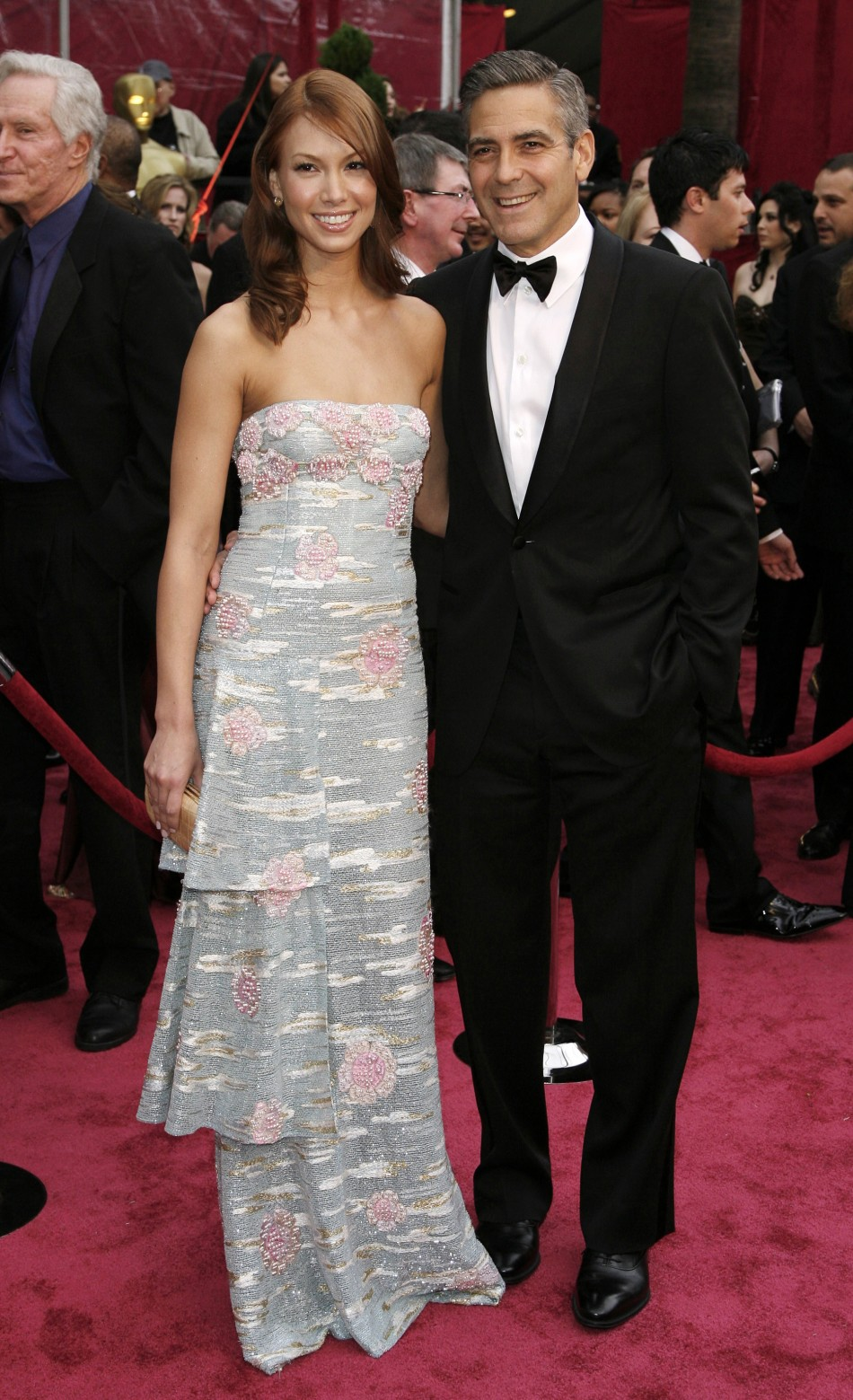 Actor George Clooney and his girlfriend Sarah Larson