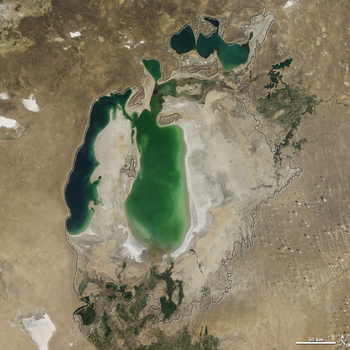 View of Aral Sea in 2003