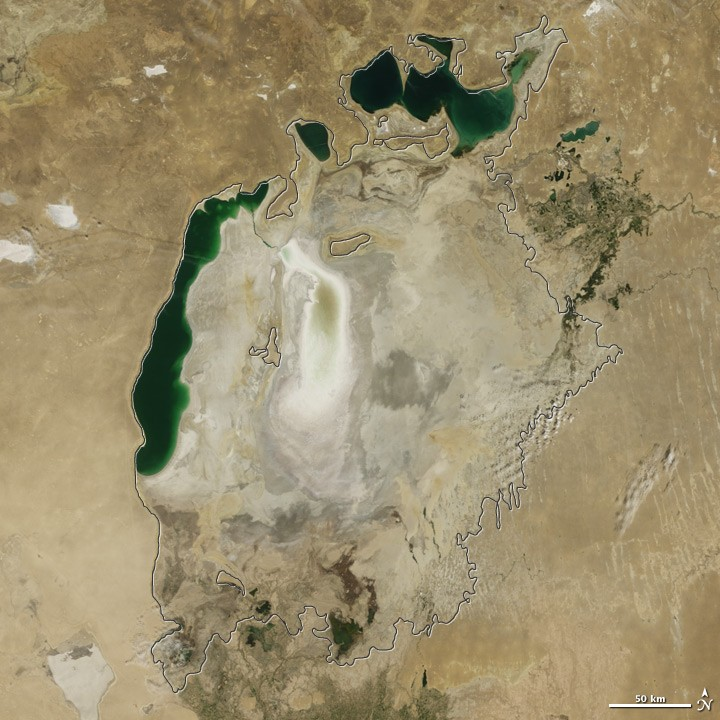 View of Aral Sea in 2009