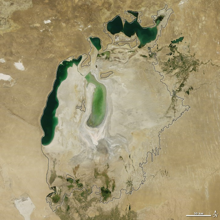 View of Aral Sea in 2011