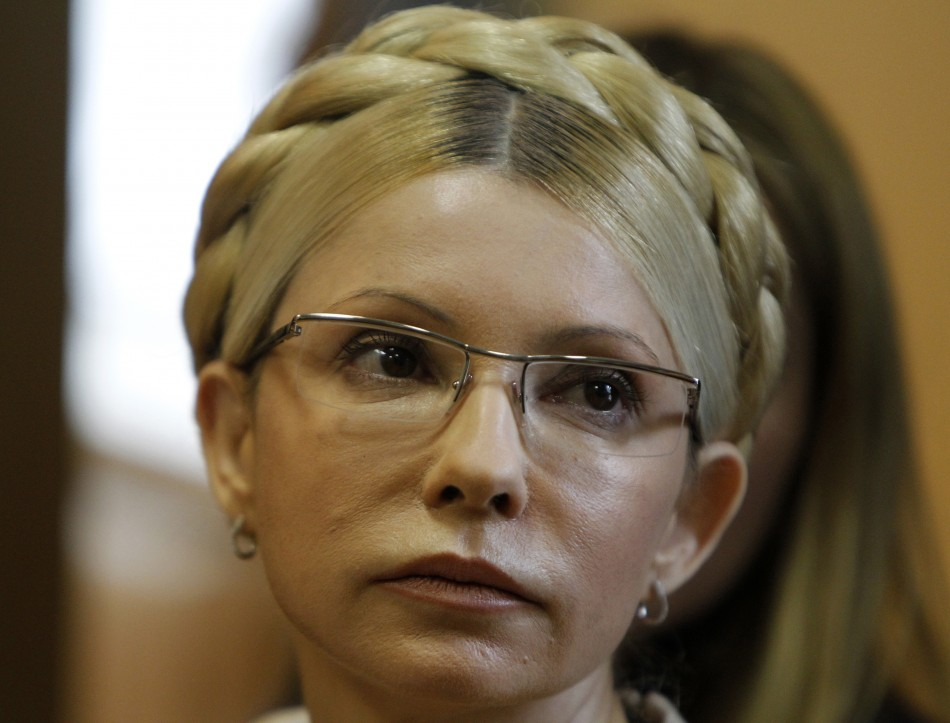 Ukrainian ex-prime minister Tymoshenko attends a session at the Pecherskiy district court in Kiev