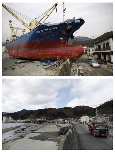 Japan Tsunami - Then and Now