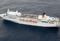 The Costa Allegra, that is stranded in the Indian Ocean.