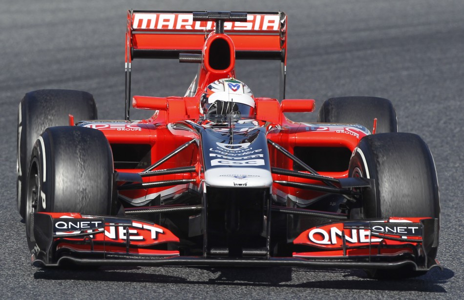Charles Pic of the Marussia Formula 1 Team