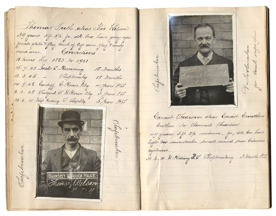 Rogues039 Gallery 100 Years Old Compiled Photographs of Criminals Up For Sale