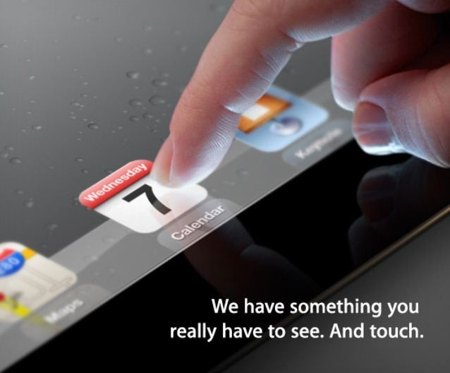 ipad 3 release invitation