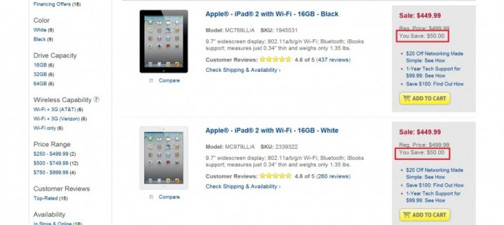 Best Buy Offers $50 Discount on iPad 2