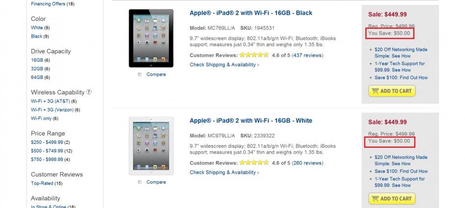 Best Buy Offers $50 Discount on iPad 2
