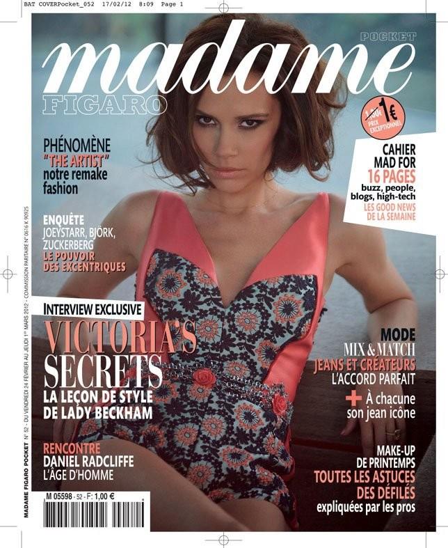 Victoria Beckham poses for cover of  Figaro magazine