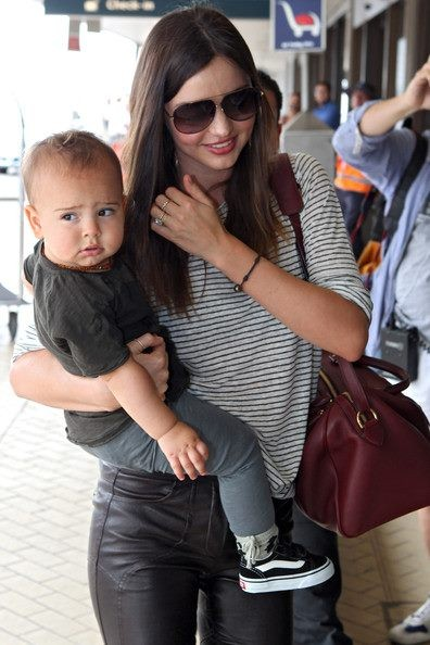 Victoria Secret Model Miranda Kerr with her son, Flynn