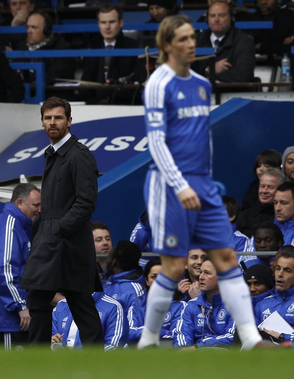 Andre Villas-Boas (L) and Fernando Torres