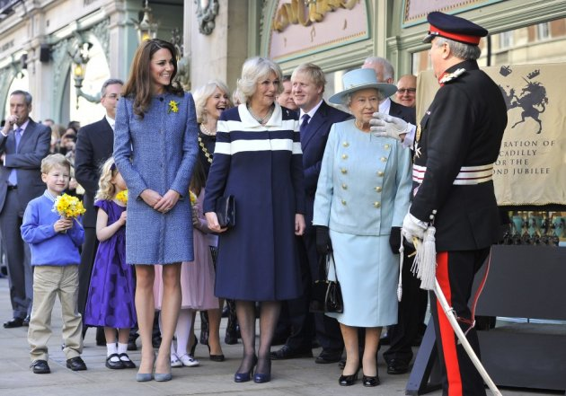 Kate Middleton, the Duchess of Cornwall and The Queen