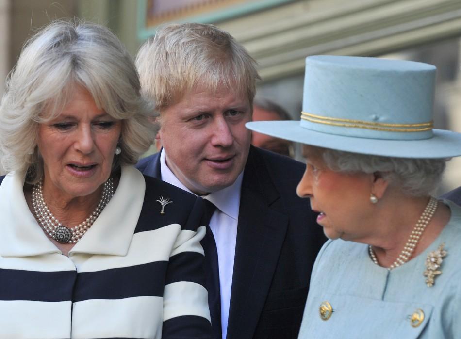 The Duchess of Cambridge, Boris Johnson and the Queen