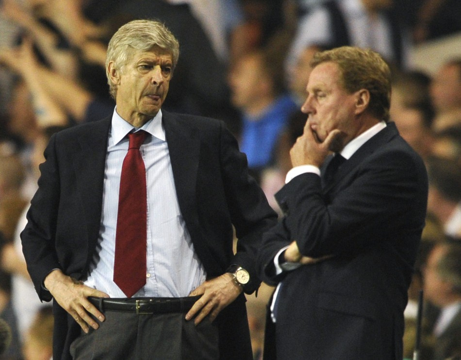 Arsene Wenger and Harry Redknapp