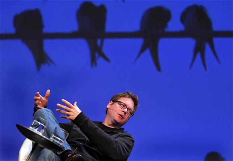 Biz Stone, co-founder of Twitter, speaks at the Charles Schwab IMPACT 2010 conference in Boston