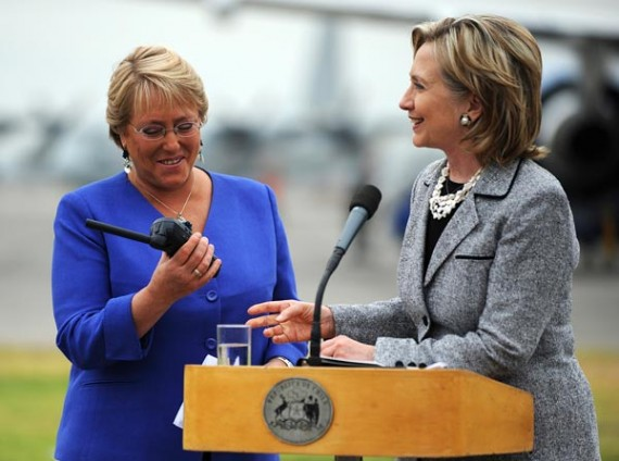 Michele Bachelet and Hillary Clinton