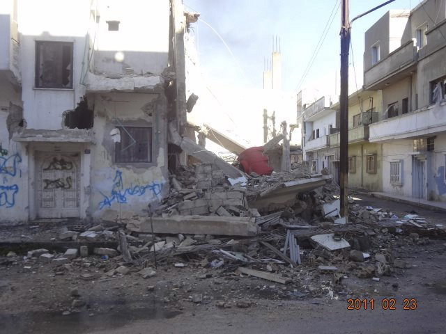 Aftermath of siege in Baba Amr district of Homs