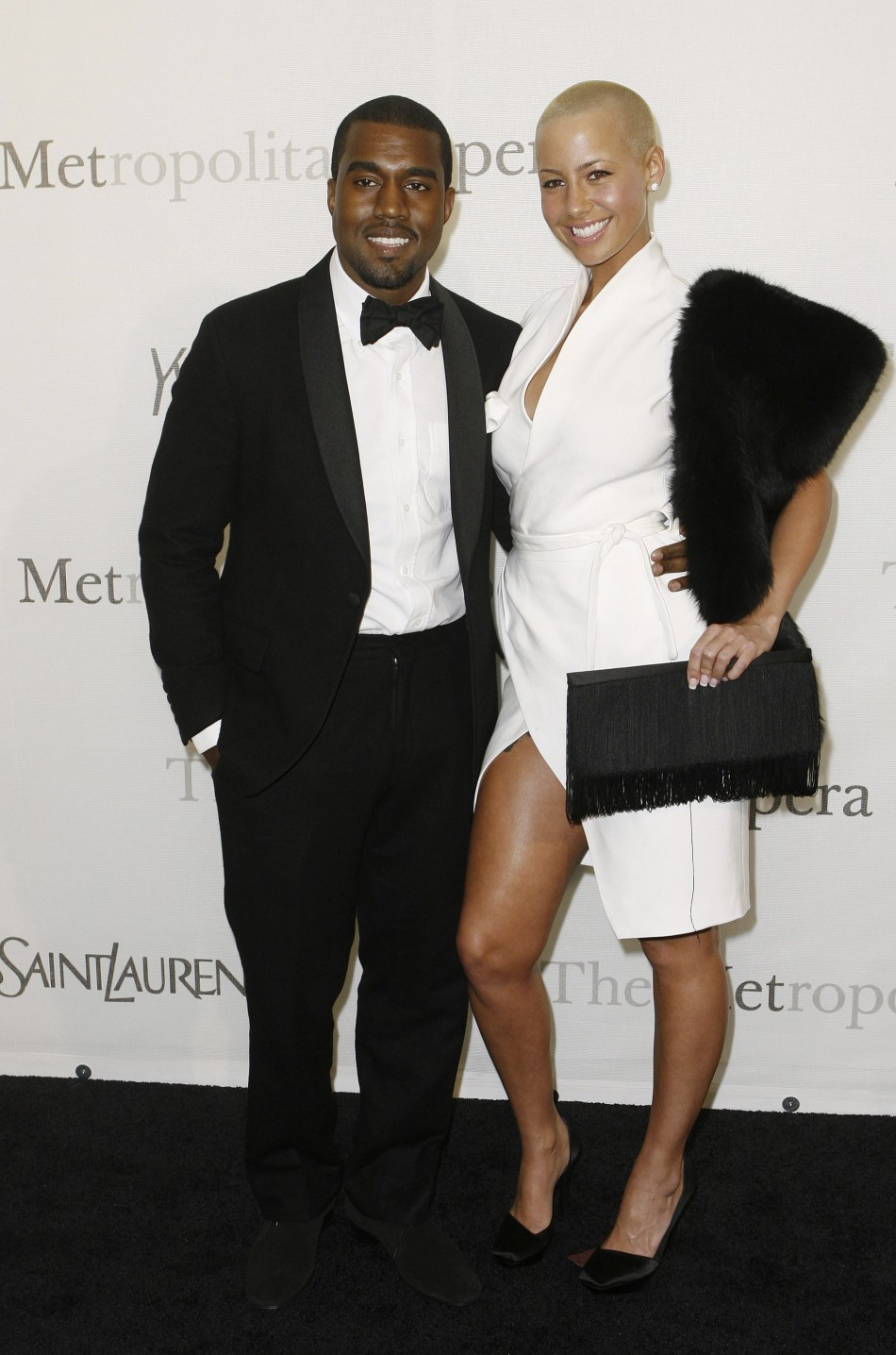 Amber Rose with Kanye West