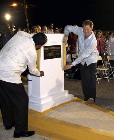 Prince Harry opens the Queen Elizabeth II Boulevard