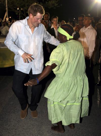Prince Harry Dances in Belize