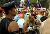 Participants take part in the 33rd Sydney Gay and Lesbian Mardi Gras Parade in Sydney, Australia,
