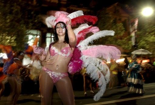 Participants take part in the 33rd Sydney Gay and Lesbian Mardi Gras Parade in Sydney, Australia, Saturday, Feb. 27, 2010. Started in 1978 as a protest march for gay rights, the parade attracts hundreds of thousands of spectators to the city to watch the