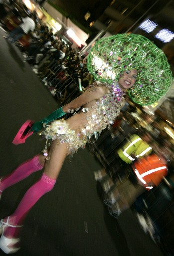 A performer parades during the Sydney Gay and Lesbian Mardi Gras in Sydney, Australia, Saturday, March 1, 2008.