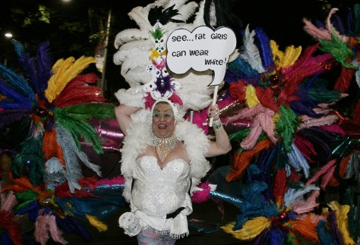Performers dance and parade during the Sydney Gay and Lesbian Mardi Gras in Sydney, Australia, Saturday, March 1, 2008