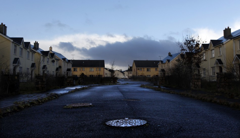 An empty and unsold housing development in Ireland photographed on 28 Jan 2012