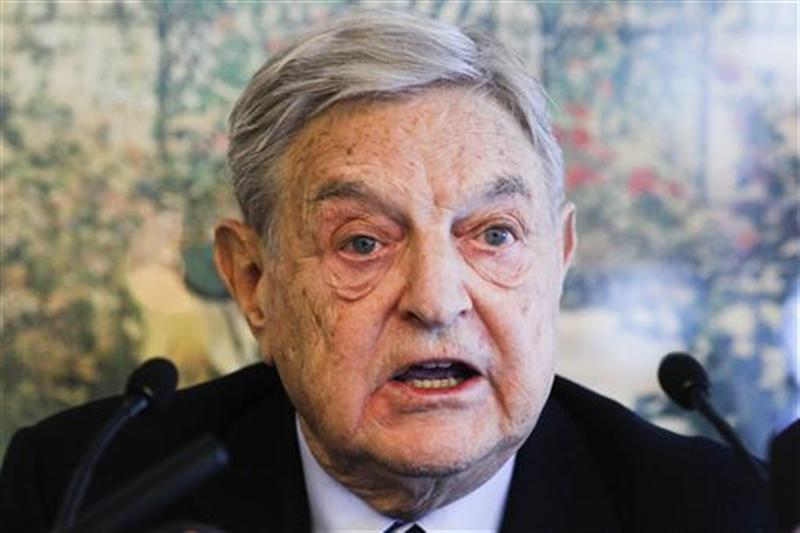 Soros Fund Management Chairman George Soros Speaks During A News Conference At The World Economic Forum (WEF) In Davos