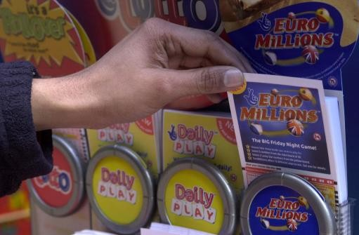 Tickets for the EuroMillions lottery on sale in London