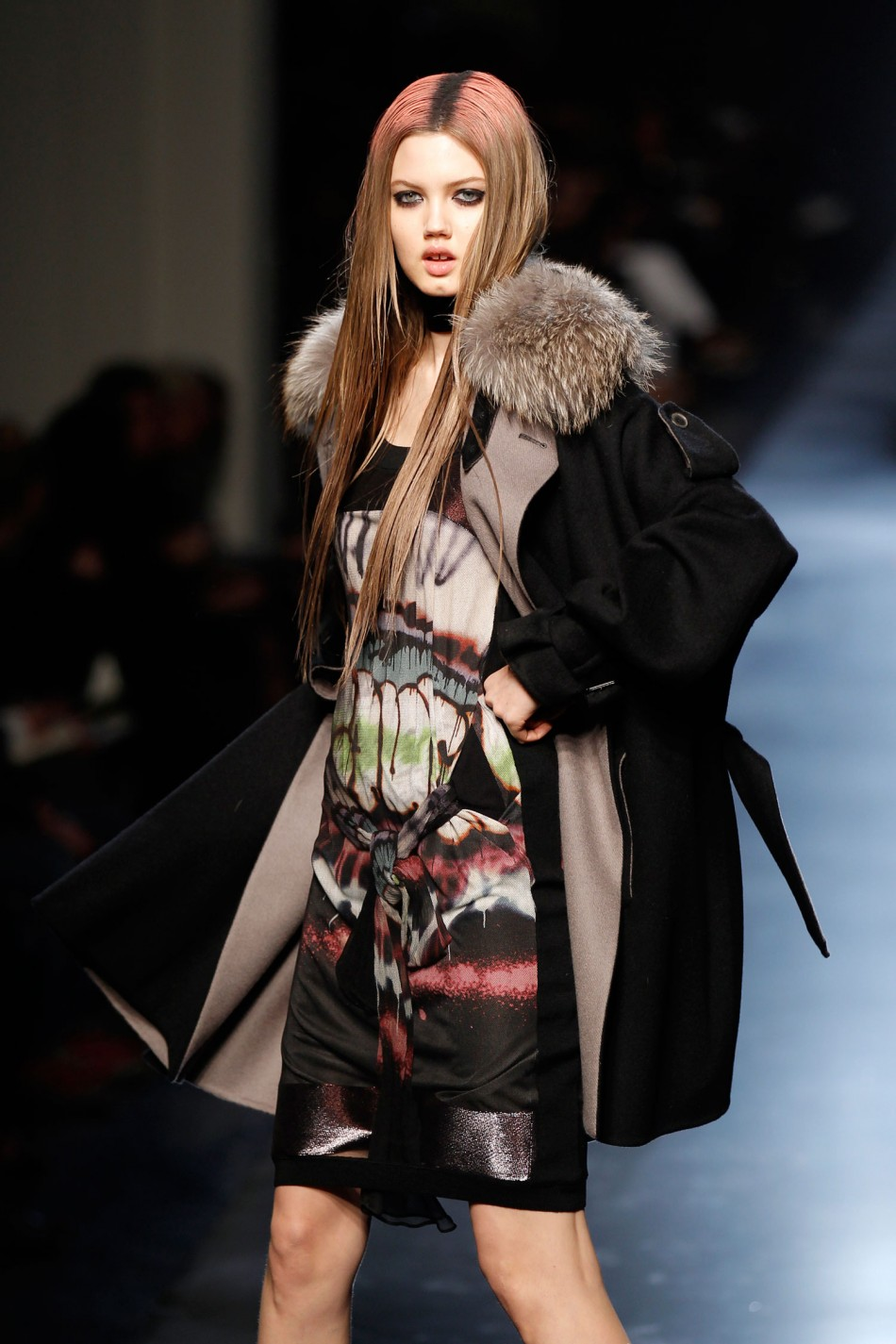 Androgynous Model Andrej Pejic Walks the Ramp for Jean Paul Gaultiers FallWinter Collection
