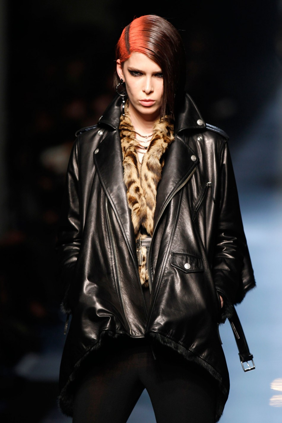 Androgynous Model Andrej Pejic Walks the Ramp for Jean Paul Gaultier's Fall/Winter Collection