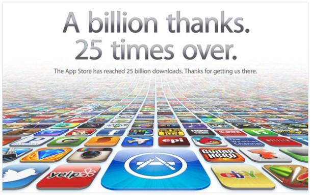 Apple's App Store Crosses 25 Billion Downloads