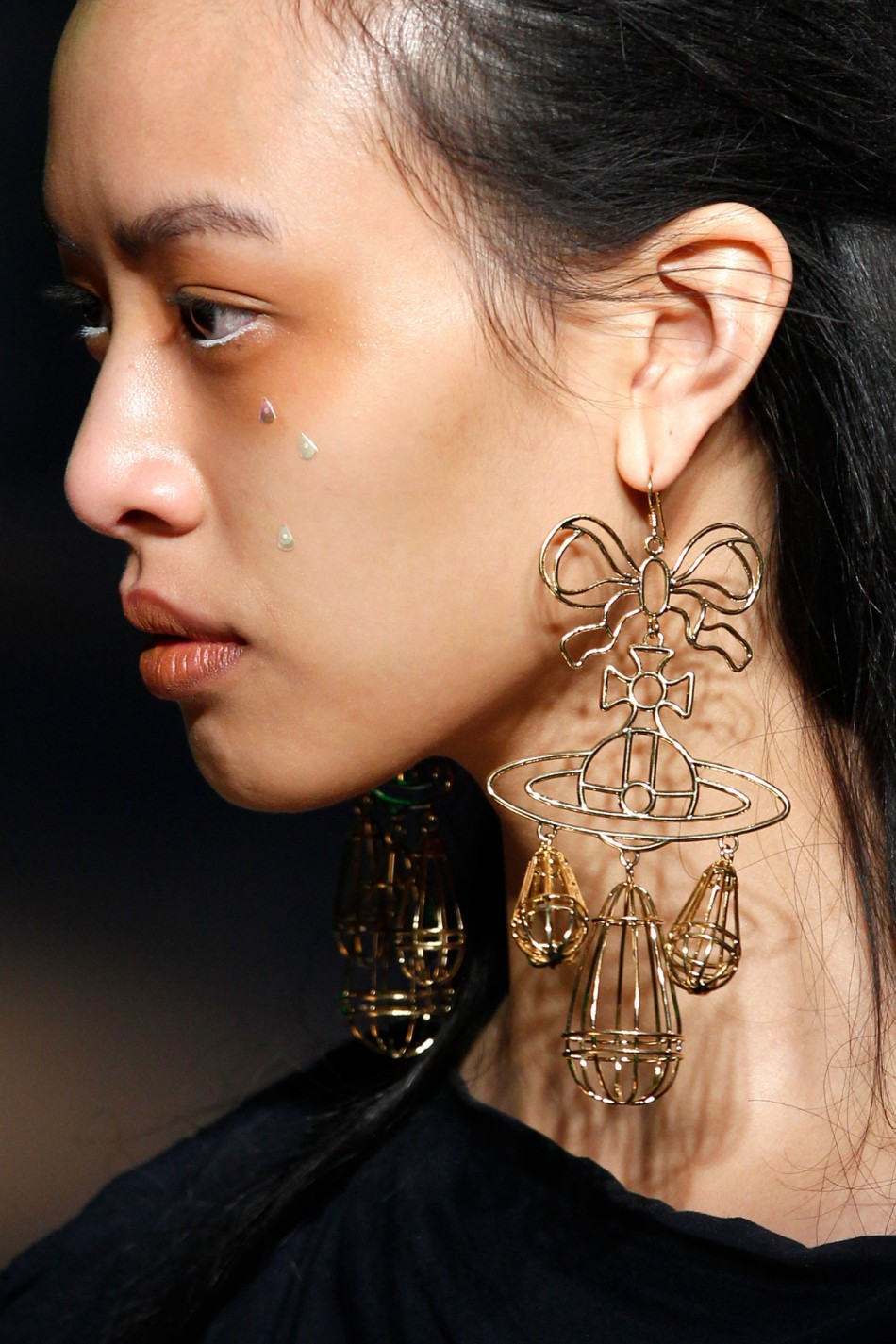 Dame Vivienne Westwoods Gold Collection during Paris Fashion Week