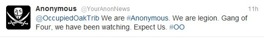 Is Anonymous a four member gang?