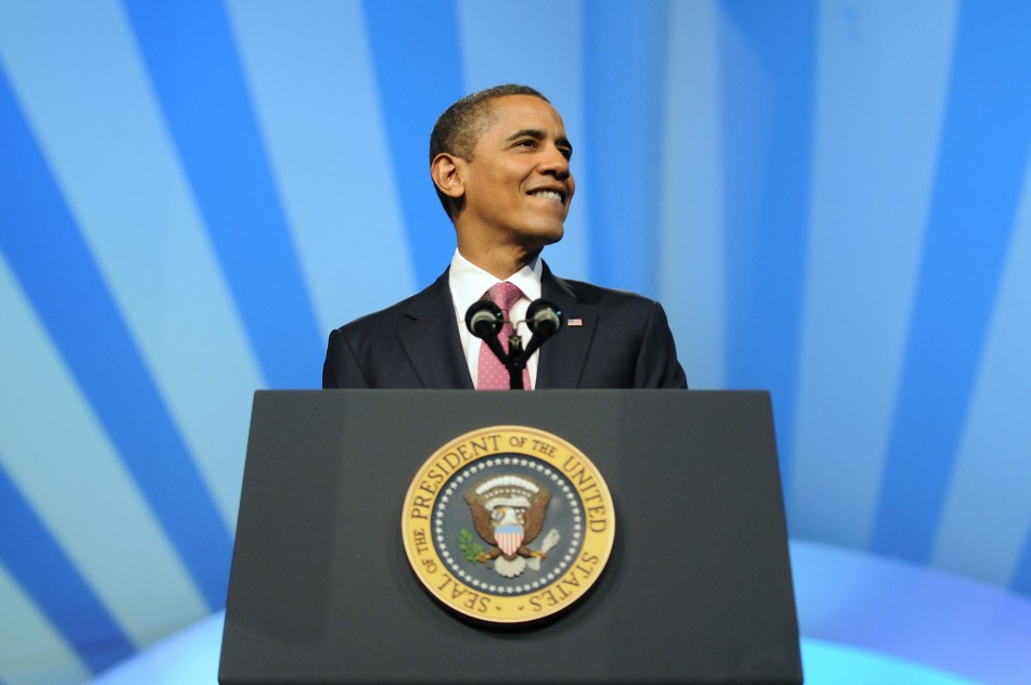President Barack Obama Speaks At AIPAC Conference