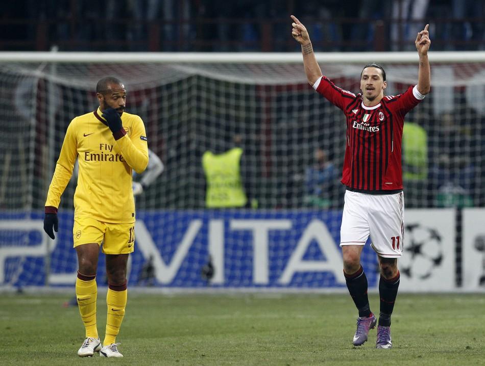AC Milan v Arsenal, first leg, round of sixteen, Champions League