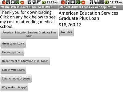 Med School Loan Viewing App 1k