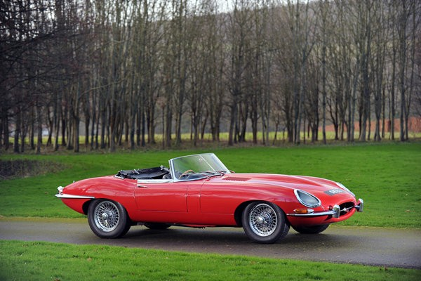 Sir Elton John's red 1965 Jaguar