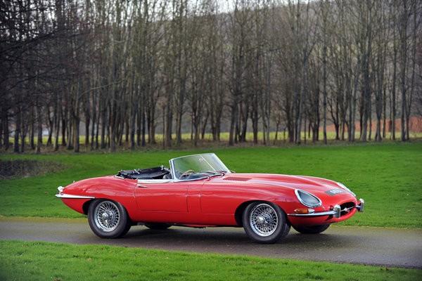 Sir Elton John's red 1965 Jaguar