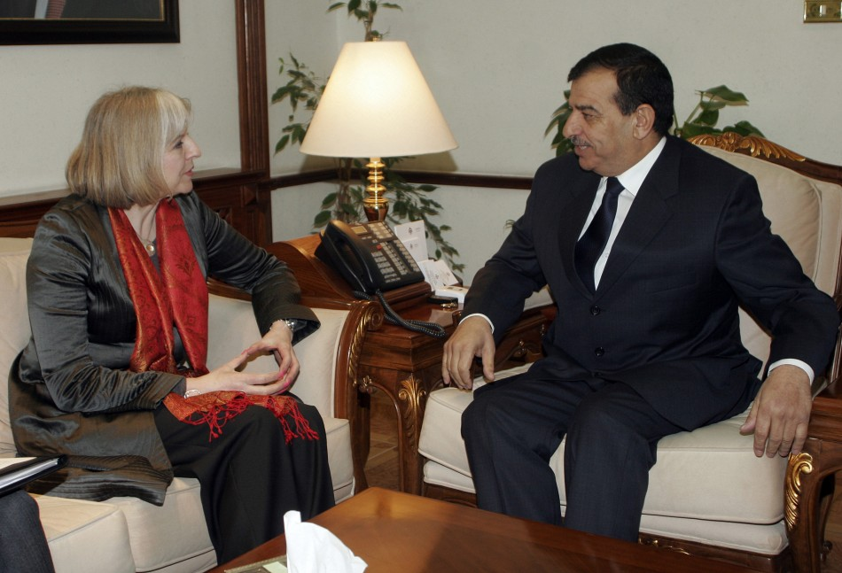 Theresa May with Mohammad Raud