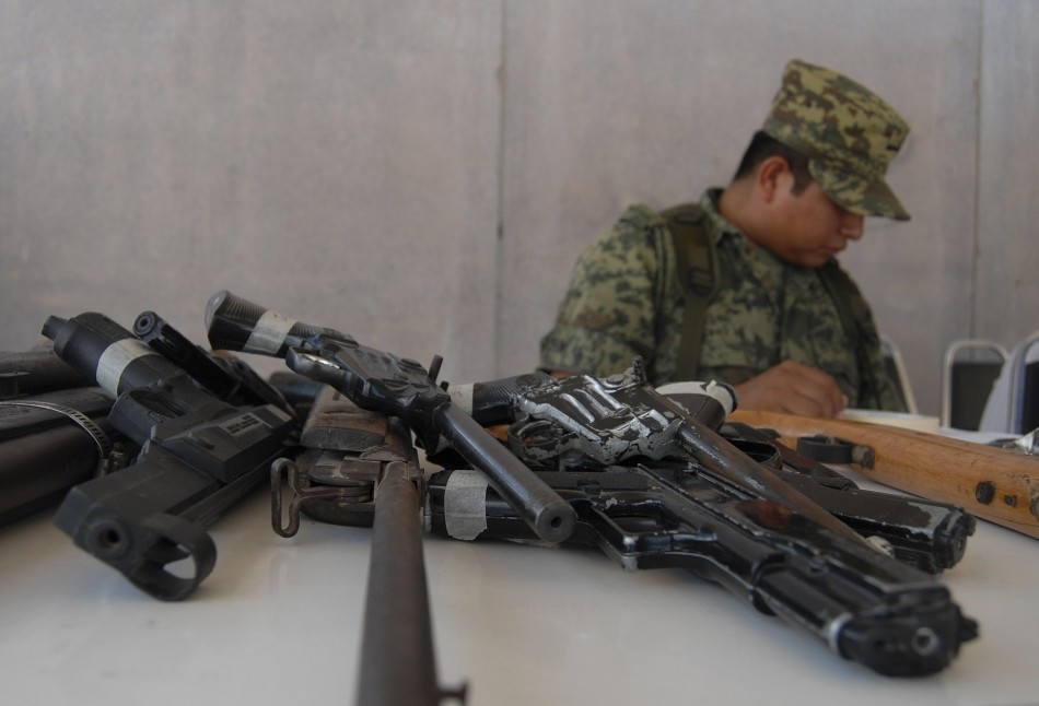 Scores of weapons found at high-security prison in Mexico