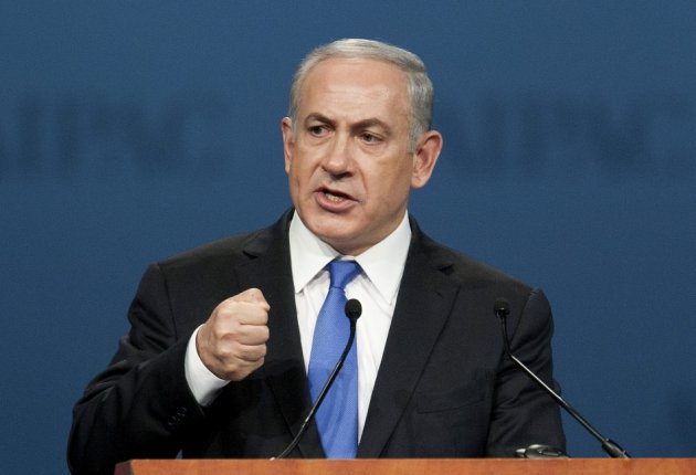 Israeli Prime Minister Benjamin Netanyahu addresses Aipac policy conference in Washington