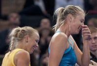 The BNP Paribas Showdown was full of laughs for Maria Sharapova and Caroline Wozniacki.