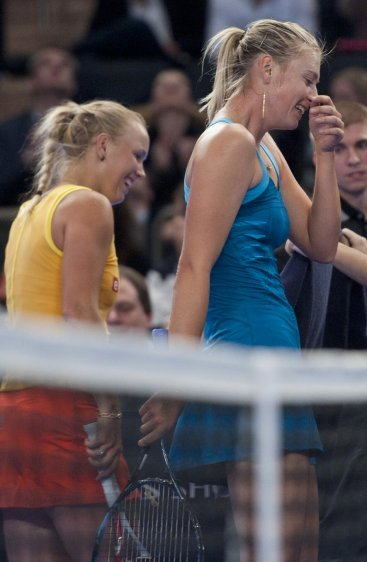 The BNP Paribas Showdown was full of laughs for Maria Sharapova and Caroline Wozniacki.