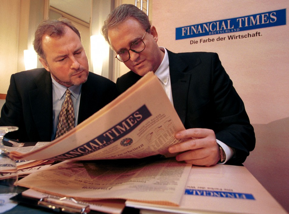 Financial TImes to bankers PR